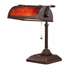 Bankers Desk Lamp Vintage Antique Shade Lighting Office Library Piano Light Room