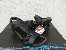 TEVA BLACK CABRILLO CROSSOVER WEDGE LEATHER SANDALS, US 9/ EUR 40 ~NIB
