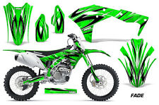 AMR Racing Kawasaki Graphic Kit Bike Decal KXF 250 Decal MX Part 2017 FADE GREEN