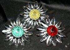 3 Swarovki Collector Society Renewal Gifts RED,GREEN,YELLOW, FLOWER cake TOPPER