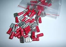 25 Vinyl Female Quick Disconnect Wire Connectors Terminals Red 22-18 AWG Ga