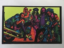 Blacklight Poster Pin-up Print Doin' Our Thing Biker & Arlo Guthrie Double Sided