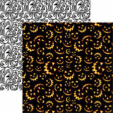 Reminisce SCARY JACK 12x12 Dbl-Sided (2PCS) Scrapbooking Papers HALLOWEEN