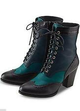 NEW Joe Browns Black & Teal Ankle Boots - Size 7 / 40