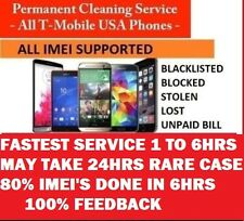 FAST T-Mobile Bad IMEI ESN Cleaning Service Lost Stolen Blocked ALL PHONES !!!