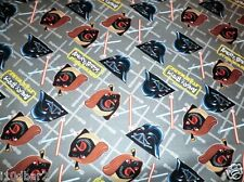 Star Wars FABRIC GREY DUEL HELMETS CAMELOT COTTON QUILTING NEW bty ANGRY BIRDS