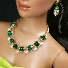 """Rhinestone Necklace and Earring Jewelry Set for 16"""" Tonner Tyler 091B"""