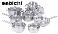 Cookware Sets on Sale Cooking Pots and Pans Set Pot Lid 14 Piece Stainless Steel