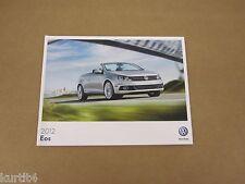 2012 Volkswagen VW Eos Komfort Lux Executive sales brochure dealer catalog
