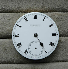 Russell Pocket Watch Movement, 43mm, ordine di marcia, HAIRSPRING problema.