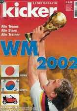 Magazin kicker Sonderheft - WM 2002,Japan/Süd Korea, mit Deutschlandposter