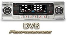Caliber RCD110 Retro Style Chrome Car CD Player AM/FM USB SD Aux In