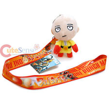 One Punch Man Lanyard Key Chain with mini Saitama Plush Doll