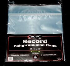 "1000 RESEALABLE LP OUTER SLEEVES High Quality Clear 12"" Vinyl Record Album Cover"