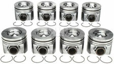 Ford 6.4 6.4L Powerstroke Diesel MAHLE Pistons (8) +Ring Kit 2008-10 STD