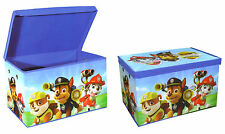 Paw Patrol Childrens Foldable Kids Toy Storage Box Chest With Lid Marshall Chase