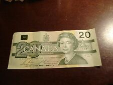 1991 Canadian $20 bill - twenty dollar note - ECK4778163