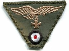 WWII German Luftwaffe Cap Trap Eagle Iron Cross Tan Water Camo Patch Repro Rayon