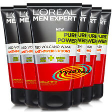 6x Loreal Men Expert Pure Power RED VOLCANO WASH 150ml