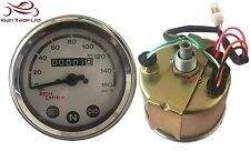 ROYAL ENFIELD BSA NORTON WHITE FACED CHROME SPEEDO METER 0-160 KM/H