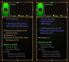 Diablo 3 RoS PS4 [SOFTCORE] - Bastions Of Will Ring Set [Ancient]