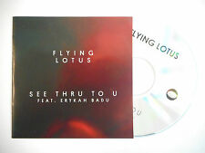 FLYING LOTUS : SEE THRU TO U feat. ERYKAH BADU ♦ CD SINGLE PORT GRATUIT ♦