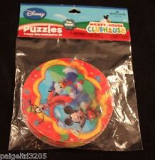 Hallmark Disney Mickey Mouse Donald Duck Goofy Clubhouse Puzzles 4 Party Favors
