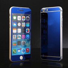 Espejo de efecto piel adhesiva Frontal y Trasero Vidrio Protector de pantalla para iPhone 4 5 6 6S