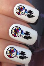 NAIL ART SET #690 x18 WATER COLOUR TRIBAL DREAMCATCHER TRANSFERS DECALS STICKERS