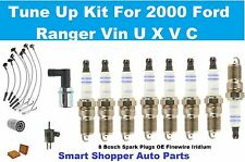 00 Ford Ranger L4 2.5L Spark Plug Oil Air Filter Spark Plug Wire Set PCV Tune Up