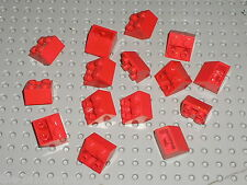 15 pieces LEGO Red Slope Brick 3660 / Set 956 5590 590 4564 7715 6752 575 149...