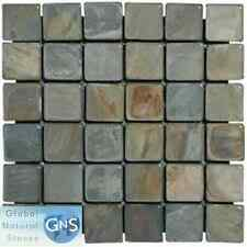 "SLATE MOSAIC 2""x2"" FOR FLOOR & WALL - RUSTIC GOLD"
