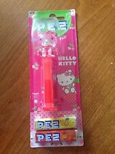 Hello Kitty - Clear Red Pez Dispenser & Sweets - NEW & Sealed