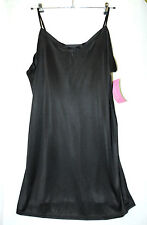 BLACK INTIMATE ESSENTIALS LADIES MICROFIBRE BLACK UNDER FULL SLIP SIZE 22 LADIES