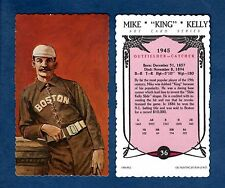 "MIKE ""KING"" KELLY Braves/Cubs 1984 RGI/Ron Lewis Hall of Fame deckle edge card"