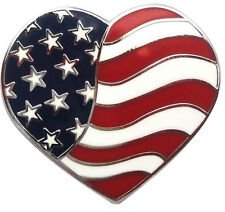 Heart  American Flag Golf Ball Markers - Package of 2
