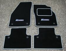 "Car Mats in Black/Grey Trim to fit Volvo C30 (2006-2012) + ""R Design"" Logos"