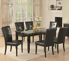 Coaster 102791 Anisa Collection Dining Table with faux Black Marble Top New