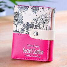 Women Secret Garden Coin Purse Short Wallet Card Holders Handbag N1