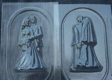 BRIDE & GROOM 3D FISHING CHOCOLATE CANDY MOLD MOLDS WEDDING FAVORS FAVOR