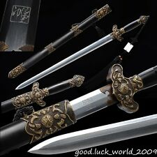 Top Boutique Chinese good luck Sword Pattern Steel Copper Ebony Sheath Handmade