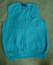 Ralph Lauren golf vest green mens size M vgc original