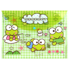 2016 Sanrio Keroppi Frog A4 File folder Document Bag ~ NEW