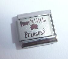 MUMMY'S LITTLE PRINCESS Italian Charm 9mm Classic Size - I Love my Daughter N96A