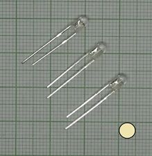 10X wasserklar Led (3mm)  warmweiß + Wiederstand - E
