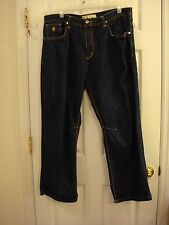 Men's Roca Wear Baggy Hip Hop Silver Decorated Pockets Denim Jeans Size 40 x 30