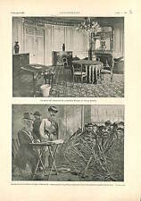 Hotel Scribe Paris / Paul Kruger South Africa in Marseille ANTIQUE PRINT 1900