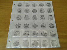 Classic Coin Album Pages for Olympic 50p Coin Collections
