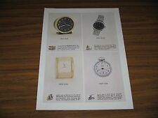 1963 Print Ad Westclox Baby Ben Clocks,Pocket Ben Watch,Wristwatch,Travalarm