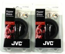 Lot of(2) JVC HAF75V Earbuds/Earphones with In-line Volume Control and Carrying